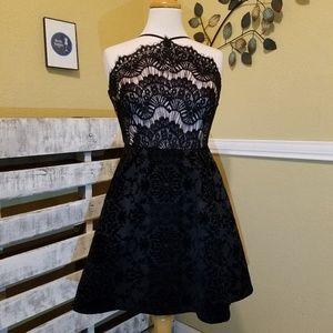 Black Lacey Dress Size 3